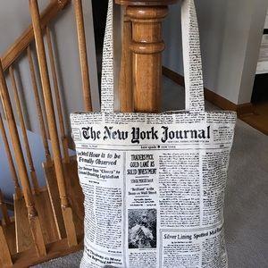 Kate spade canvas newspaper tote bag make headline